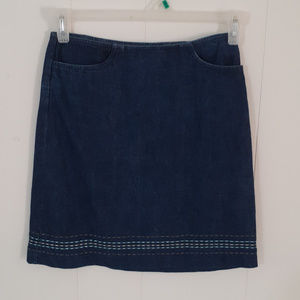 Ann Taylor Loft Blue Denim Short Skirt